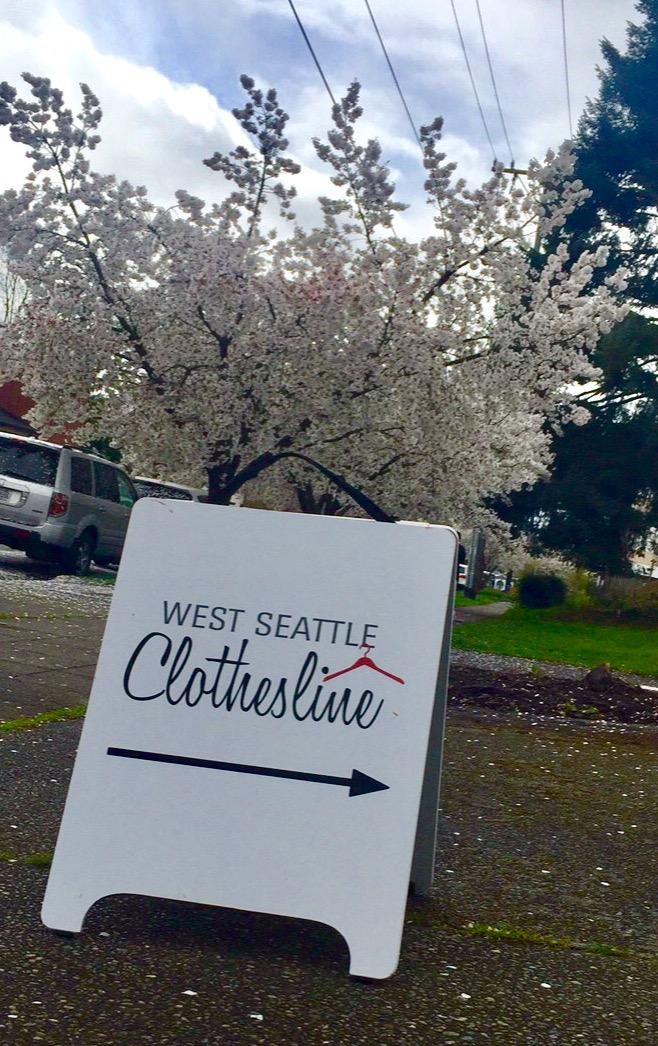 West Seattle Clothesline sign